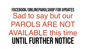 Parols not available this time